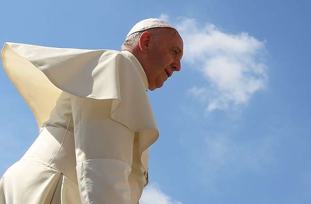 Pope Francis in St. Peter's Square June 17, 2015.