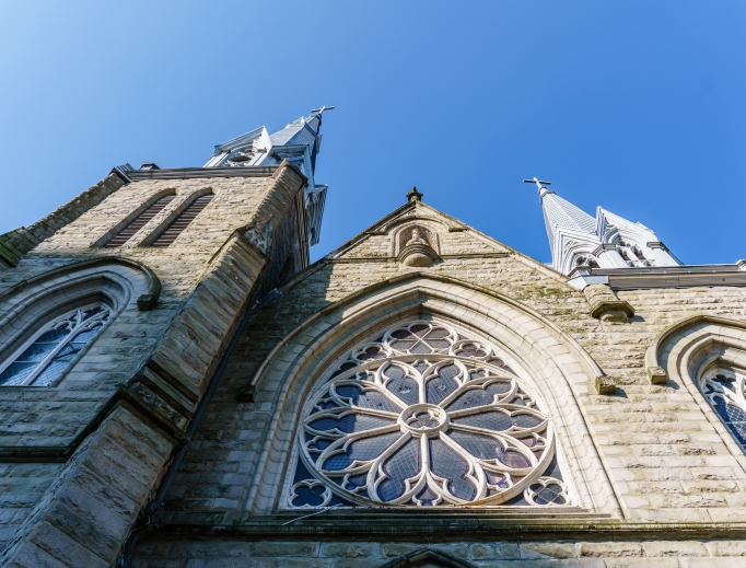 Holy Rosary Cathedral on Richards Street in Vancouver, headquarters of the city's archdiocese.