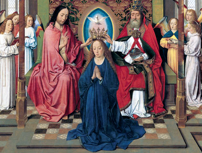 """Dieric Bouts, """"Coronation of Mary,"""" c. 1450"""