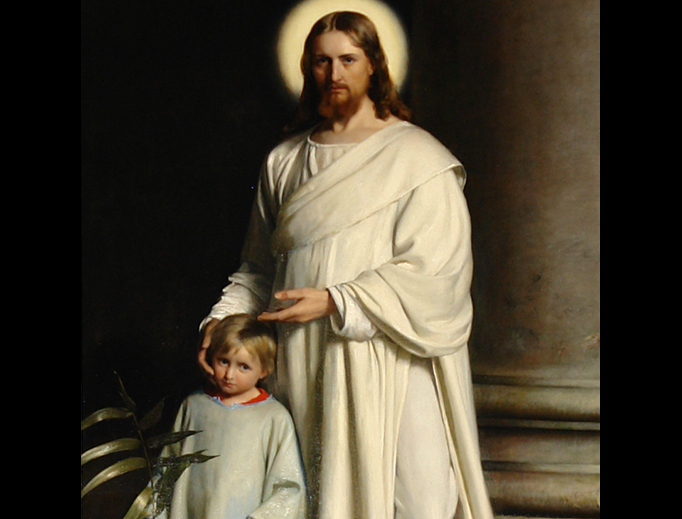 "Carl Bloch, ""Christ and Child"", 1873"