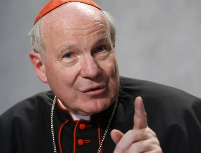 Cardinal Christoph Schönborn speaks at the launch of Amoris Laetitia at the Vatican April 8, 2016.