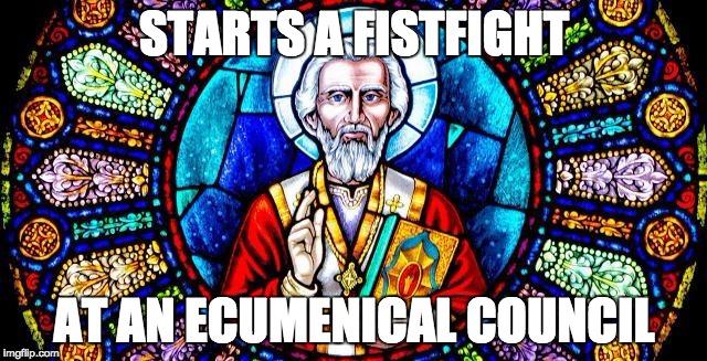Let's Stop Celebrating St. Nicholas Punching Arius| National Catholic  Register