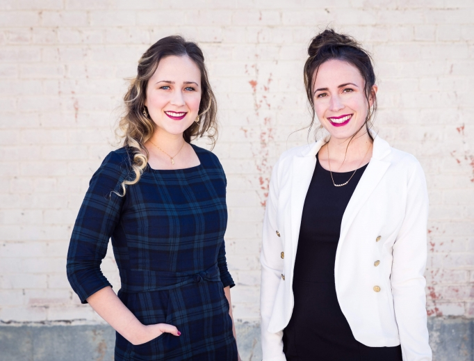 Above, Audrey Cole and Mary Kunkel, co-founders of Paris Bloom, love fashion, while Claire Couche, founder of Moscati Scrubs, is using her nursing background to launch a new business (below).