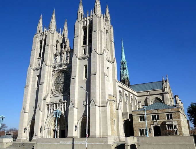 Cathedral of the Most Blessed Sacrament in Detroit, Michigan.