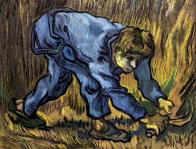 "Vincent Van Gogh, ""Reaper with Sickle"""