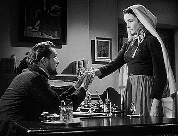 Vincent Price and Jennifer Jones in 'The Song of Bernadette'
