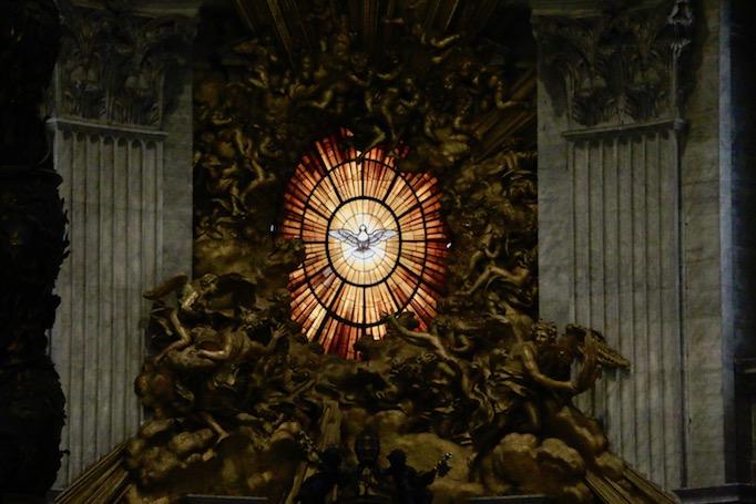 Gian Lorenzo Bernini's 'Dove of the Holy Spirit' (ca. 1660, alabaster, St. Peter's Basilica)