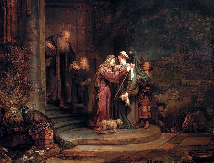 """Rembrandt, """"The Visitation,"""" 1640"""