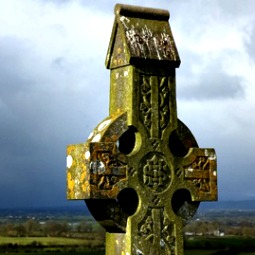 A Celtic cross on the hill at Cashel, Tipperary, Ireland.