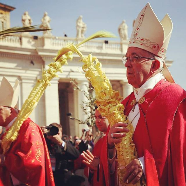 Pope Francis on Palm Sunday, March 20