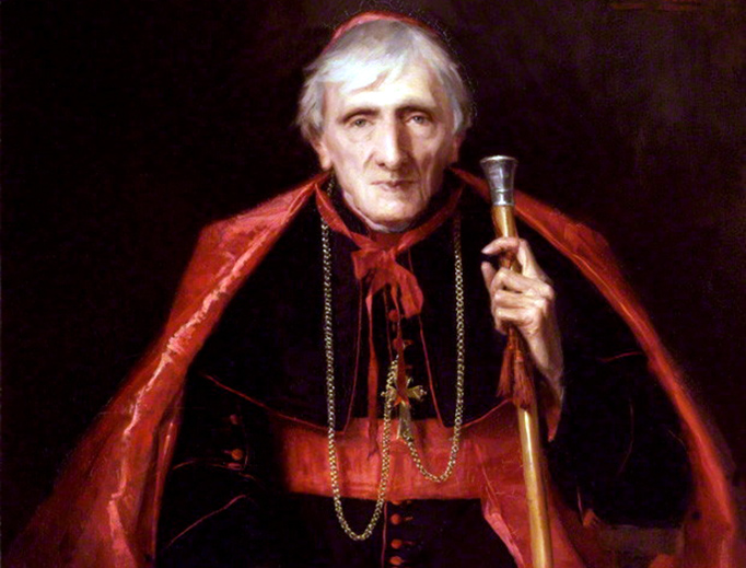 Portrait of John Henry Newman by Emmeline Deane (1889), from the National Portrait Gallery