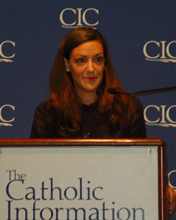 Susan Hanssen at the Catholic Information Center on June 4