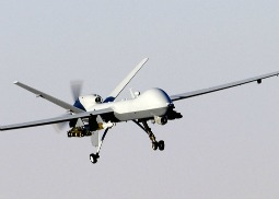 A MQ-9 Reaper unmanned aerial vehicle in action in Afghanistan.