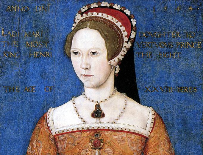"""Master John, """"Portrait of Mary I"""" (1544)"""