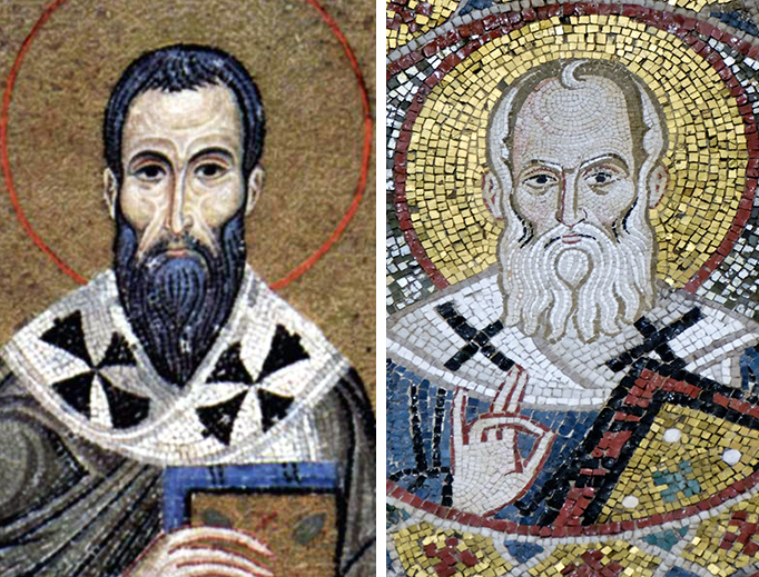 St. Basil (left) and St. Gregory Nazianzen