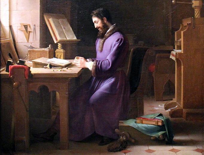 "Jean-Antoine Laurent (1763-1832), ""Gutenberg Inventing the Printing Press"""