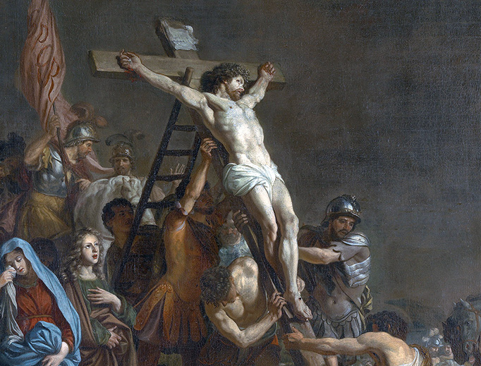 """Adriaen Backer (1635/1636-1684), """"The Elevation of the Cross"""""""
