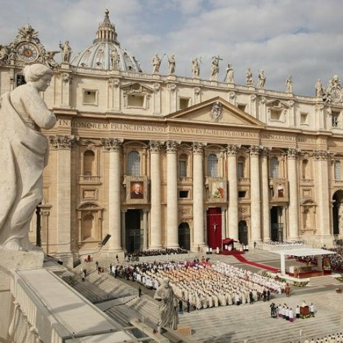 Pope Francis canonizes four new saints in St. Peter's Square on Oct. 18.