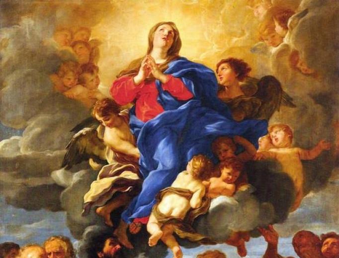 Assumption painting by Giovanni Batista Gaulli