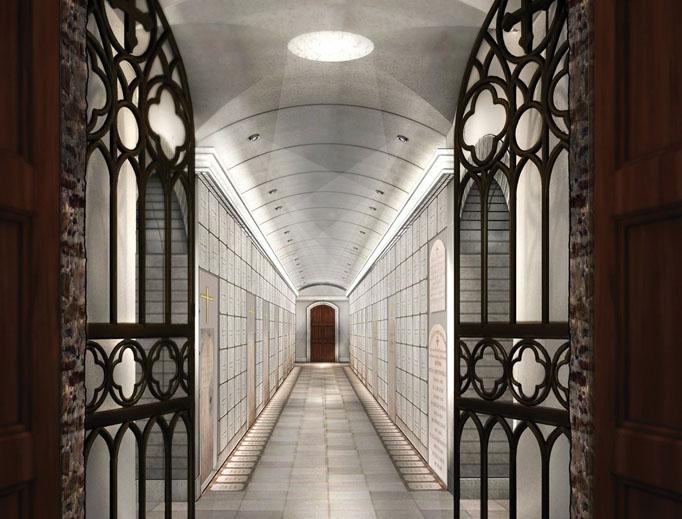 The restored catacombs underneath Manhattan.