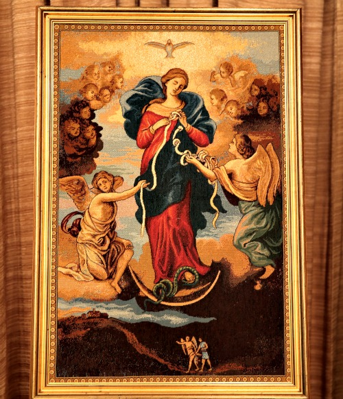 Image of Our Lady, Undoer of Knots, in Erbil, Iraq