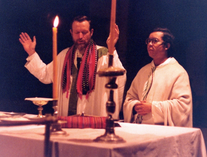 Father Stanley Rother was dedicated to serving the people of Guatemala, as shown in this archival Mass photo.