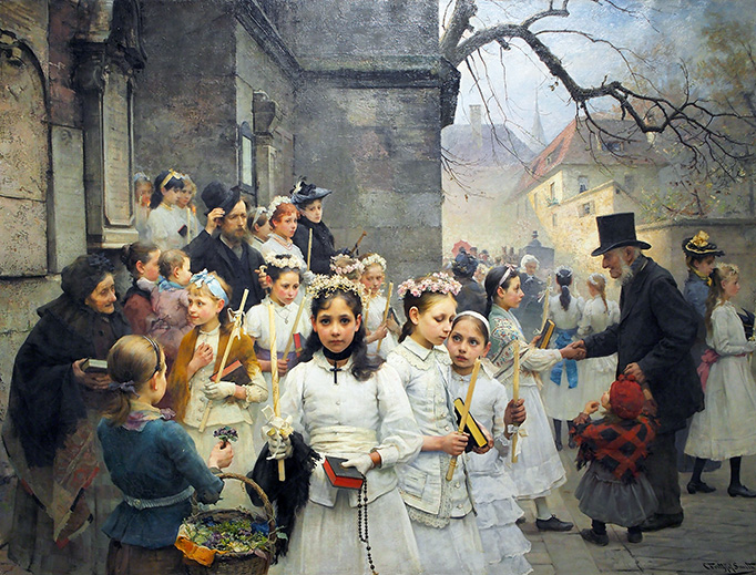 """Carl Frithjof Smith, """"After First Communion"""", 1892"""