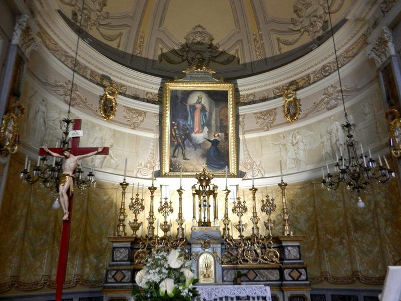 Interior of the shrine of the Madonna dei Fiori