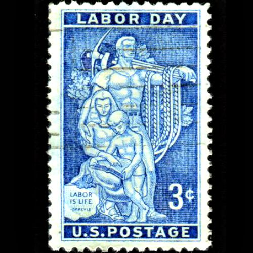 U.S. Labor Day commemorative stamp, issued in 1956.