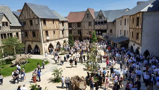 Visitors can look walk through different periods of French history, including a village setting and a Roman amphitheater.