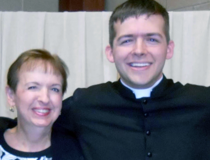 Father Joseph Kelly and his mother