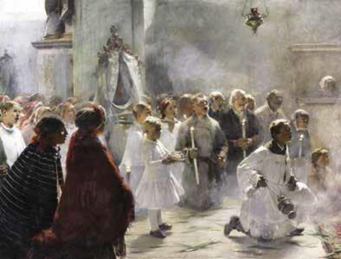 ZDZISŁAW JASINSKI, PALM SUNDAY MASS, 1891