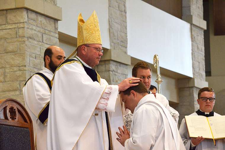 Priestly ordinations in the Diocese of Wichita May 26.