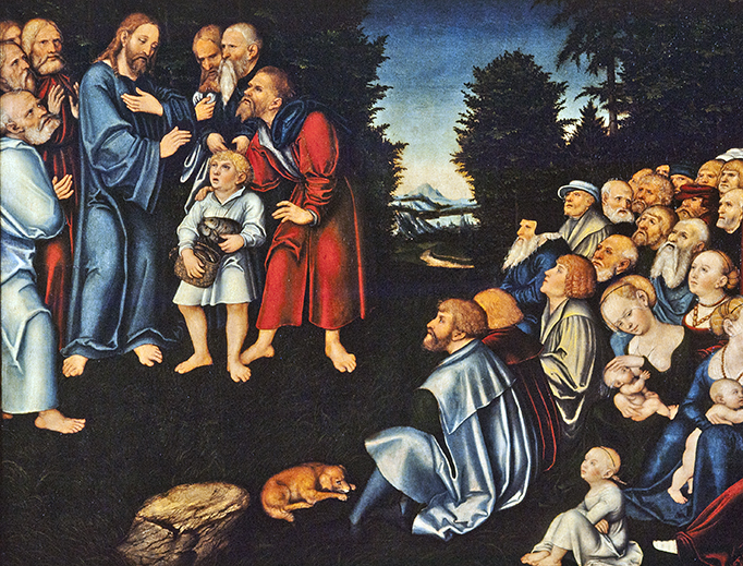 "Lucas Cranach the Elder (1472-1553), ""The Miracle of the Loaves and Fishes"""