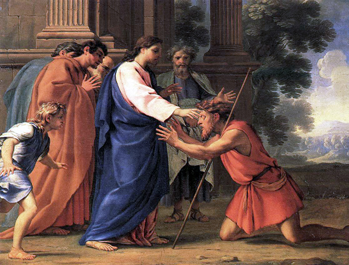 "Eustache Le Sueur (1616-1655), ""Christ Healing the Blind Man"""