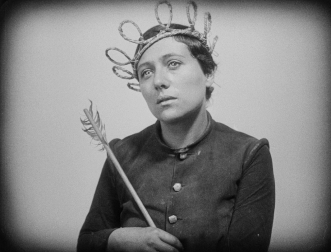 This scene with Renée Falconetti in The Passion of Joan of Arc evokes Christ's passion.