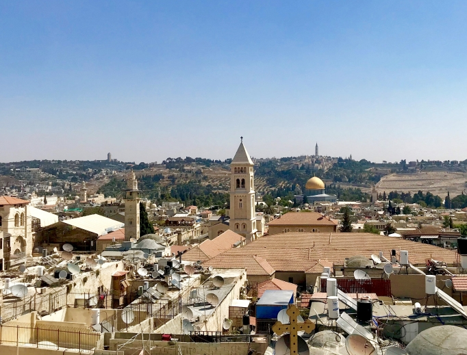 The history of Christianity is all around the Holy Land, from the Old City in Jerusalem to the Basilica of the Nativity in Bethlehem and the Pontifical Institute Notre Dame of Jerusalem, where the Vatican flag flies high, to the Church of the Holy Sepulcher.