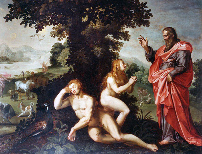 """""""The Creation of Eve"""", attr. to Raphael Coxie, c. 1605"""