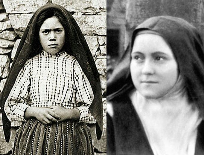 Servant of God Sister Lucia dos Santos (l) and St. Thérèse