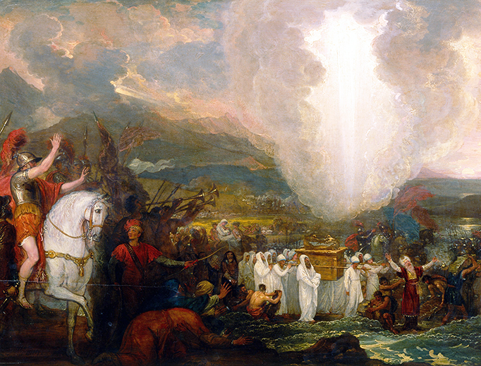 """Benjamin West, """"Joshua Passing the River Jordan with the Ark of the Covenant"""", 1800"""
