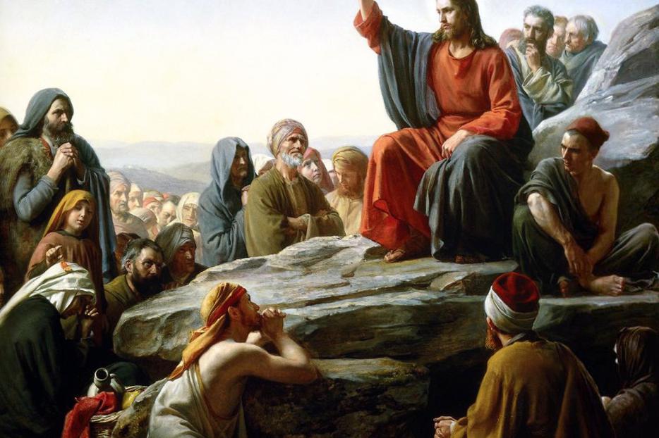 Not just a meme: The Sermon on the Mount (Carl Heinrich Bloch, ca. 1855)