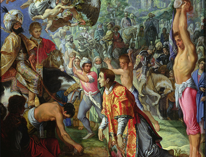 "Adam Elsheimer (1578-1610), ""The Stoning of St. Stephen"""