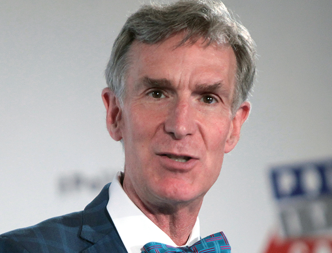 Bill Nye speaks at an event in Pasadena, California in 2016.