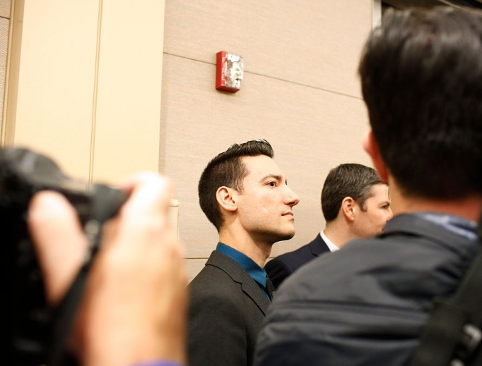 David Daleiden, shown arriving for court at the Harris County Courthouse on Feb. 4, 2016, in Houston, was in court again this past week in San Francisco, where a civil trial is currently underway.