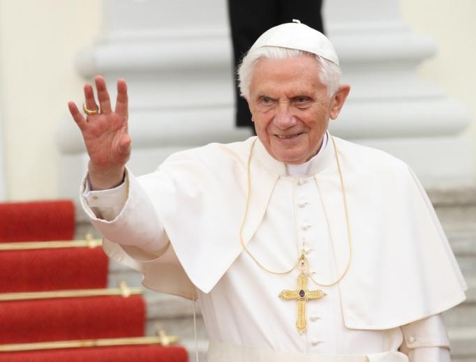 Pope Benedict XVI on September 22, 2012 in Germany.