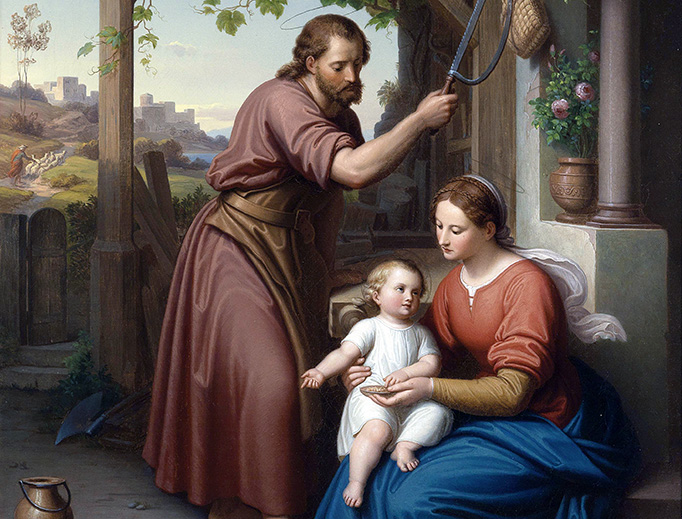 """Julius Frank (1826-1908), """"The Holy Family"""""""