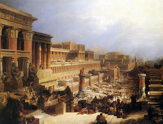 "David Roberts, ""The Israelites Leaving Egypt"", 1830"