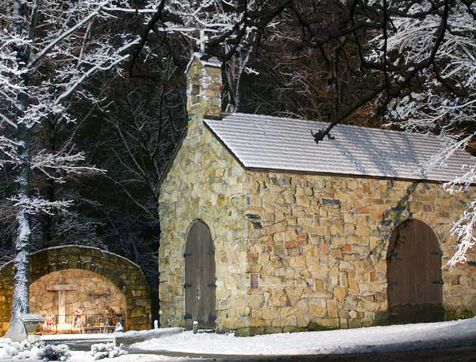The Portiuncula Chapel on the campus of the Franciscan University of Steubenville, Ohio.