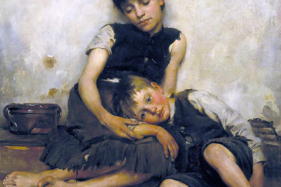 "Thomas Kennington (1856–1916), ""Orphans"""