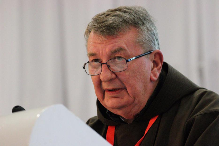 Fr. Thomas Weinandy speaking at the Conference of Catholic Families, Dublin, Aug. 22, 2018.